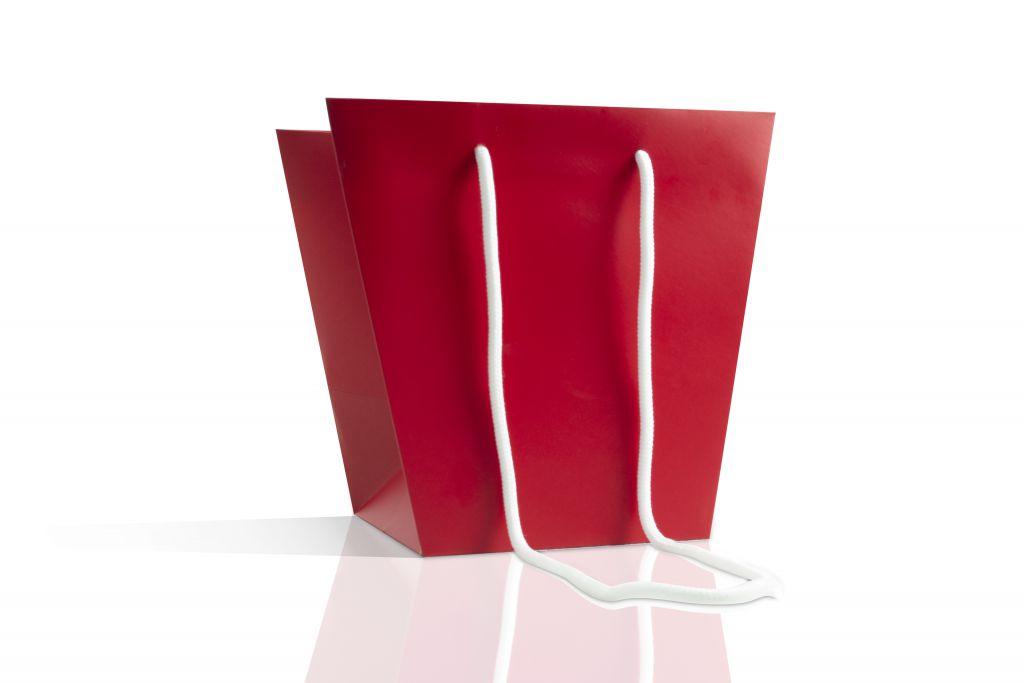 Sac Kraft Trapèze 26x26x23 Rouge