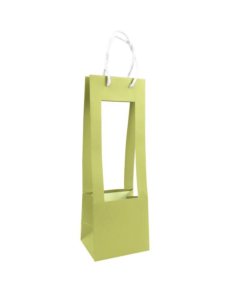 Sac Porte Bouquet 13x10,5x38 Vert Amande x 10