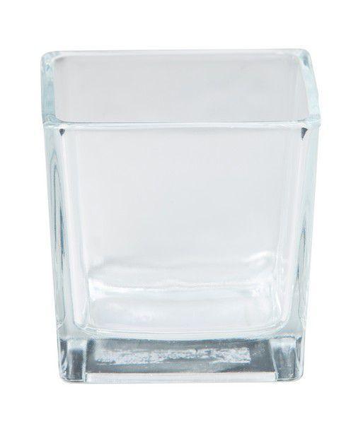 Vase Verre Cube 8x8x8